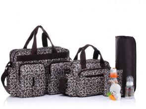 Комплект сумок для мам и малышей BS005 Leopard